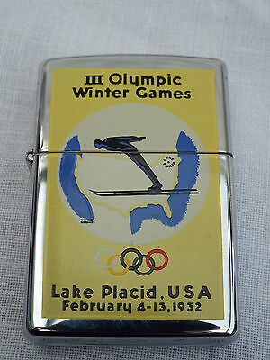 Vintage  Zippo Lighter Olympic Games Collection 1996  Lake Placid 1932 Unused