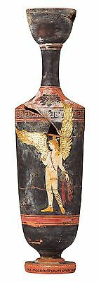 Greek Pottery Lekythos Replica, High Quality Reproduction, Antique finishing
