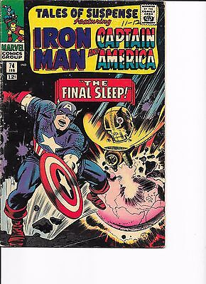 Marvel Comics Tales Of Suspense Issue No 74 VG? The Final Sleep