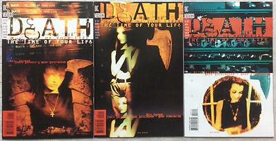 Death - The Time of Your Life complete series #1,2, & 3 (DC 1996) high grade.
