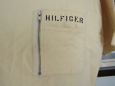 Tommy Hilfiger Men's T-Shirt Large Pocket Zipper Spelled Out Made in India
