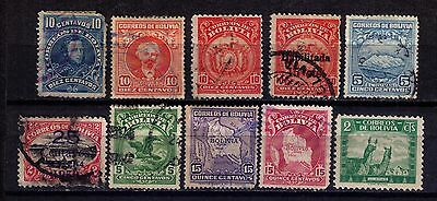 Bolivia Stamps First Years selection Used small lot !