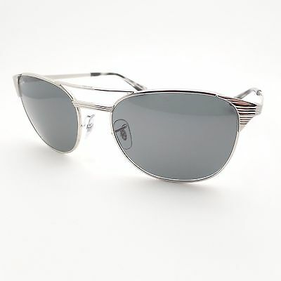 Ray Ban Signet 3429 M 003/R5 Silver Blue Grey 58 Sunglasses New Authentic