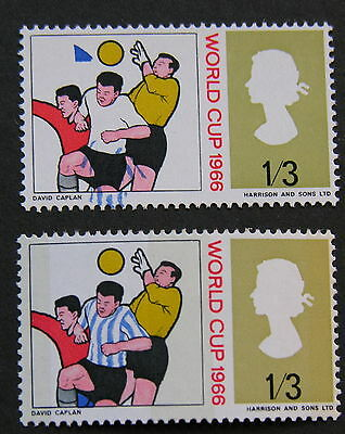 GB World Cup 1966 non phos issue major shift of blue MNH SG695