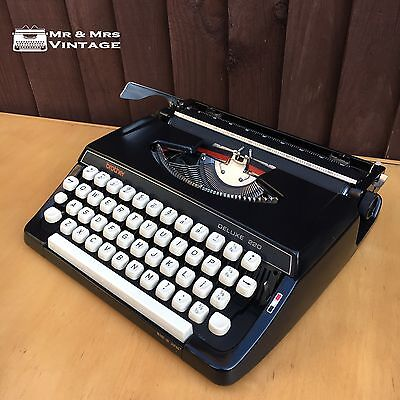 Brother Deluxe 220 Typewriter Dead Postman Robotic Techno working black ribbon