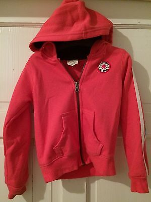 Converse All Star Girls Pink Zipped Hoody Age 4