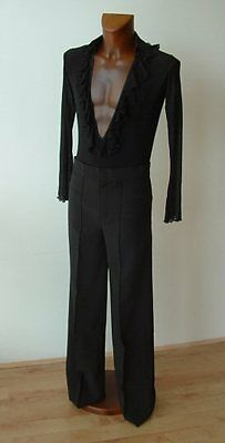 Crease Resistant Mens Elasticated Latin Trousers. (No Binding On Sides).