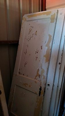 Antique Vintage 2 Panel Interior  Door  27 1/4 X 79 1/2  Approx