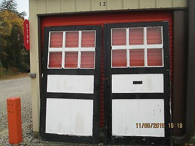 Antique Vintage Carriage Doors Black And White