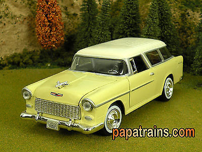 Die Cast 1955 Chevrolet Nomad Station Wagon Model G Scale 1:24 by Showcasts