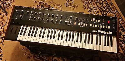Korg Polysix Vintage Analogue Polyphonic Synthesiser Keyboard Serviced