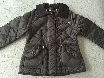 NEXT GIRLS QUILTED BLACK JACKET COAT/Size 3-4 Years/BNWT