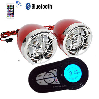 Motorcycle Speakers Bluetooth Audio System FM Radio MP3 Waterproof Sound System