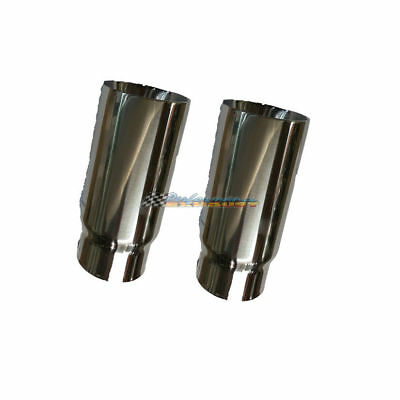 """2.5"""" In 3"""" Out Straight Cut Inner Cone Redback Stainless Exhaust Tips"""