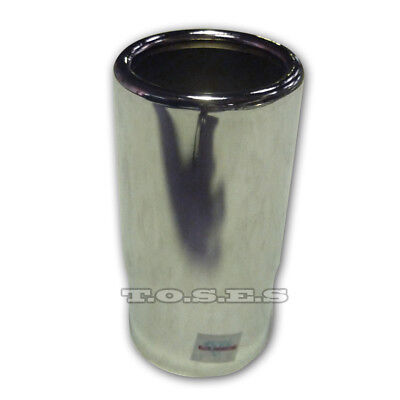 "2.5"" Inlet 3"" Outlet Rolled End Straight Cut Chrome Exhaust Tip"