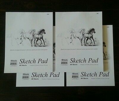 4 x Sketchbook 9 x 12 Inches 160 Sheets Premium Quality Sketch Drawing Paper Pad