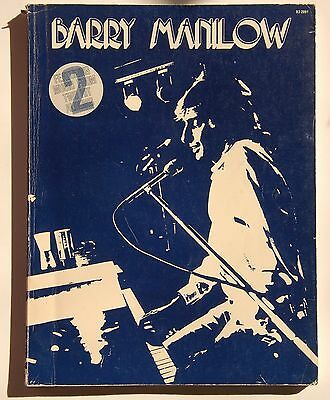 BARRY MANILOW Music from Two Hit Albums Piano Vocal Paperback 1975 Great Photos