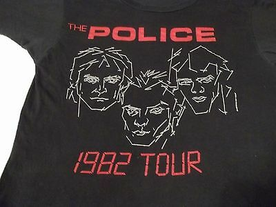 Vtg THE POLICE 1982 Ghost In The Machine Tour L LARGE Screen Stars T-SHIRT Tee