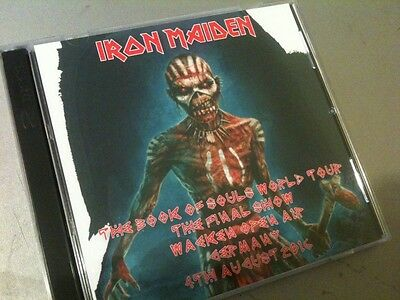 Iron Maiden Double CD Wacken Open Air Germany The Book Of Souls Tour 2016