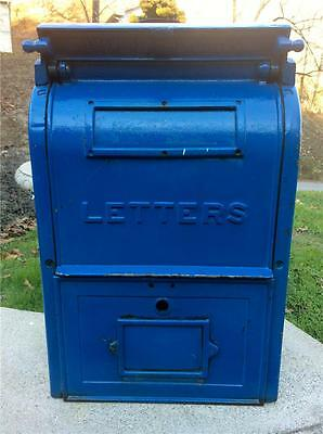 1928 Antique Embossed Cast Iron Shunk US POST OFFICE Letter Mailbox Bucyrus Oh