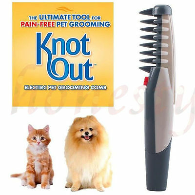 Cute Knot Out Electric Pet Grooming Comb Brush Black Grey For Cats And Dogs Tool