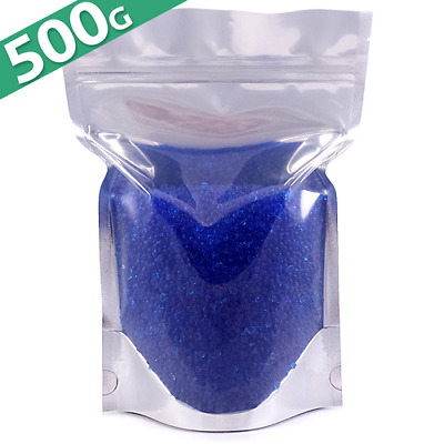 500g Silica Gel Desiccant Moisture Absorber Beads - Indicating (BLUE) Reusable