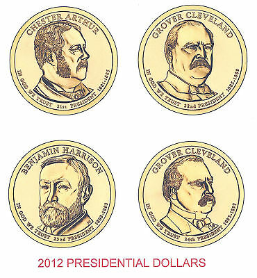 2012 Presidential Dollars Complete P&d Set - 8 Coins ****in Stock****
