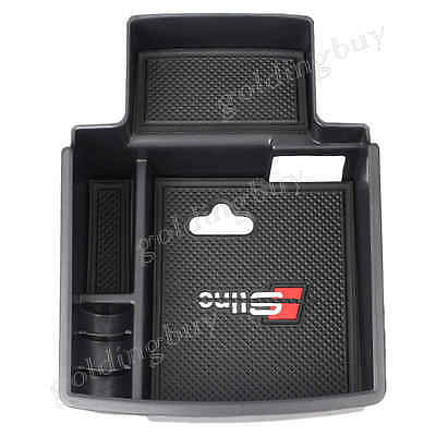 ABS Center Console Armrest storage box container For Audi Q5 2008 - 2014 Black