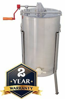 Stainless Steel Honey Extractor Two 2 Frame Beekeeping for Langstroth & Dadant