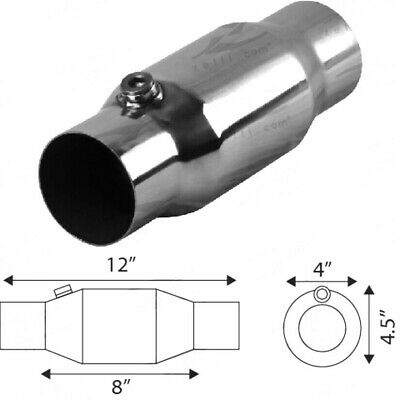 "3.5"" 100 Cpsi Bullet High Hi Flow Stainless Metal Race Cat 31/2"""
