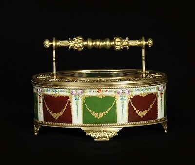 19Th Century French Dore Bronze And Porcelain Box