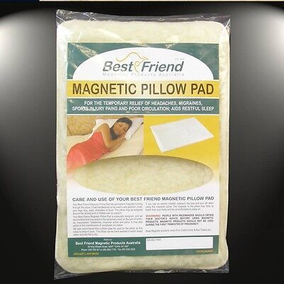 Best Friend Premium Lambs Wool Magnetic Pillow Pad -Therapy Sleep Pain Relief