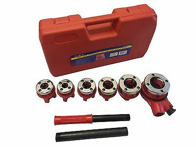 New Ratchet Pipe Threader Kit Set Ratcheting W/6 Dies And Case Gas Free Shipping