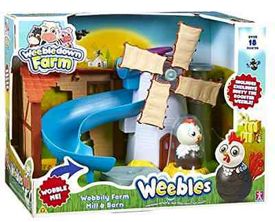 Wobbily Farm Mill and Barn Playset with Windmill and Rusty the Rooster Figure