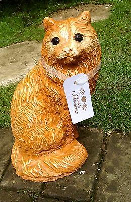 Large  Cat stone Ornament - Garden / Home  Remembrance - Keepsake