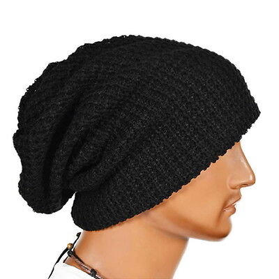 Men Women Warm Winter Knit Ski Beanie Slouchy Oversize Cap Hat Unisex GT