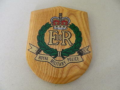"""Royal Military Police Wooden Sheild Wall Plaque 8"""""""