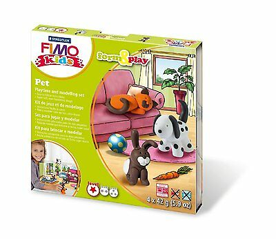 Fimo Kits For Kids Gift Form & Play Polymer Modelling Oven Bake Clay set   PETS