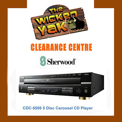 BRAND NEW Sherwood CDC5506 Front Load 5 Disc Carousel CD Player+USB+MP3 Play
