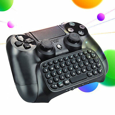3.5mm Plug Black Mini Wireless Chatpad Message Keyboard for PS4 Controller GT
