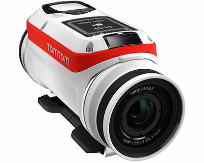 TomTom Bandit Base Action Cam 4K 16MP Ultra HD SD WLAN Kamera Wasserdicht weiß !