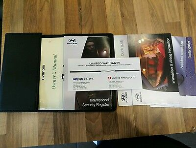 Hyundai Getz Owners Manual pack wallet booklets pouch folder