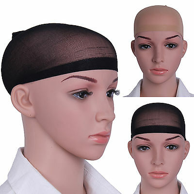 2 Wig Cap Black Nude Breathable Stocking Nylon Stretch Hair Liner Unisex New