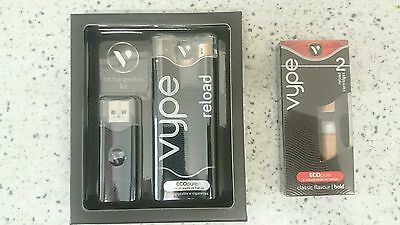 Vype Reload Starter Kit Rechargeable plus 2 extra cartridges classic bold