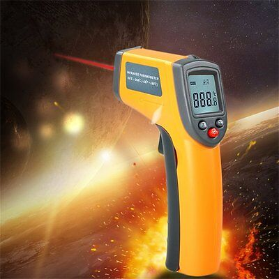 New LCD Digital IR Infrared Thermometer Temperature Meter Non Contact Laser#H