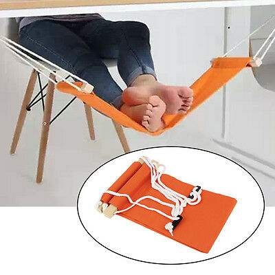 Portable Novelty Mini Office Foot Rest Stand Adjustable Desk Feet Hammock#H