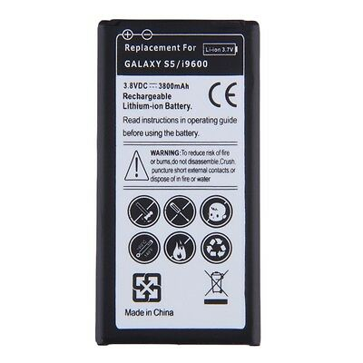Replacement Li-ion Battery For Samsung Galaxy S5/i9600 EB-BG900BBE 3800mAh#H
