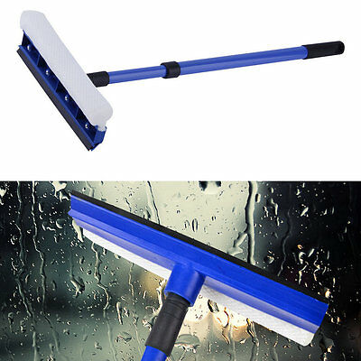 Handle Adjust Double Sided Windshield Window Glass Wash Cleaner Brush#H