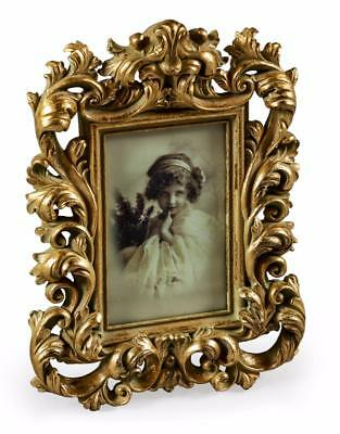 "Ornate Antique Gold Baroque Style Photo Photograph Picture Frame 6 x 4"" Gift"