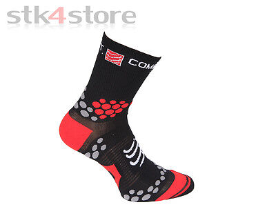 Calcetines Compressport Pro Racing Socks Trail V2.1 Talla 39/41 - Negro / Rojo